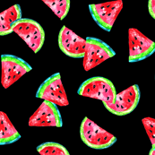 Summer Watermelons on Black
