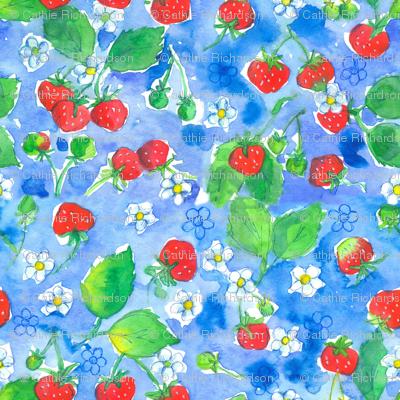 Strawberries Blue