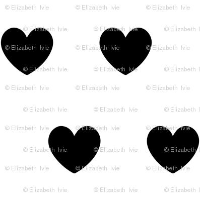 tiny black hearts
