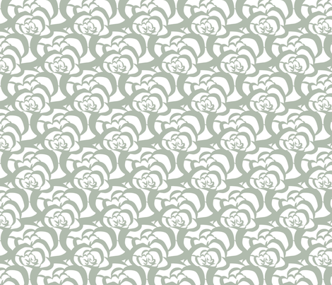 Floral Sage Green Clouds fabric by deanna_v_amirante on Spoonflower - custom fabric