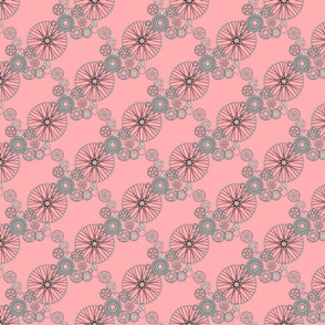 Beautiful bicycle parts - tiny - sweet pink - FFAFB1