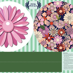 Pink Petals Plush Pillow Cut-and-Sew Pattern* || enamel pin brooch flower flowers floral dorm home goods daisy