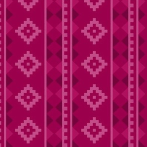 Stripe Rug in Raspberry