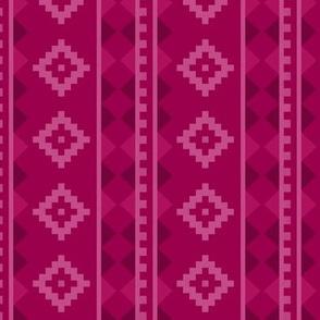Stripe Rug in Raspberry