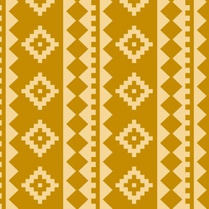 Stripe Rug on Gold