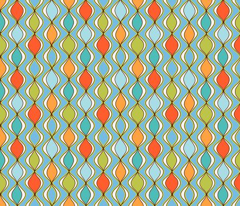 wax drops -aqua  fabric by designed_by_debby on Spoonflower - custom fabric