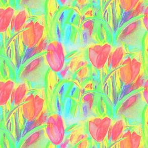 SPRINGTIME_TULIP_FIELD_2_GREEN_RED_BY_PAYSMAGE
