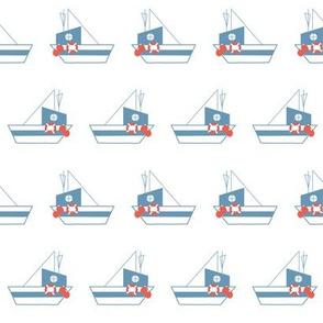 bule boats