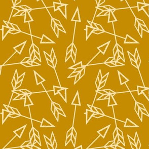 Arrow Scatter in Mustard