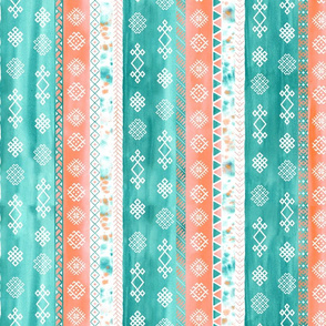Baltic Bohemian Gypsy Coral Teal