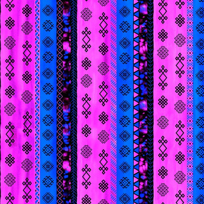 Baltic Bohemian Gypsy Pink Bllue Black