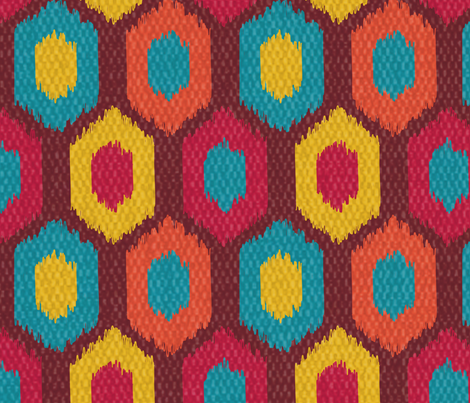 Bohemian Ikat fabric by whimsicalvigilante on Spoonflower - custom fabric