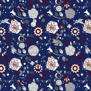 Navy Sci-Fi Floral