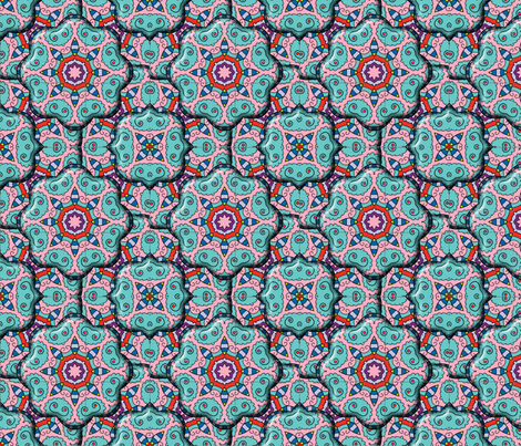 Quilted Medallions fabric by graphicglee on Spoonflower - custom fabric