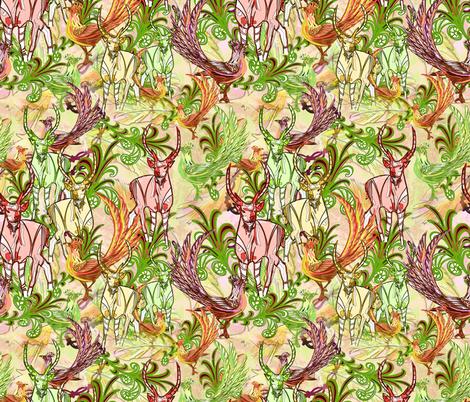 Bohemian rhapsody fabric by ravens_spirit_song on Spoonflower - custom fabric