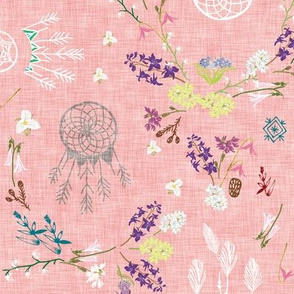 Wildflower dreams (pink linen)