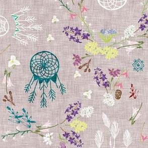 Wildflower dreams (grey linen)