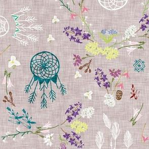 Wildflower dreams (grey linen)