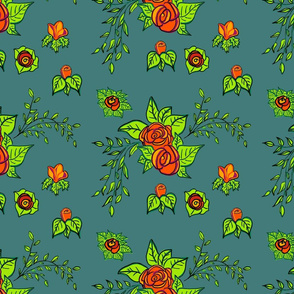 Rose's Teal Background