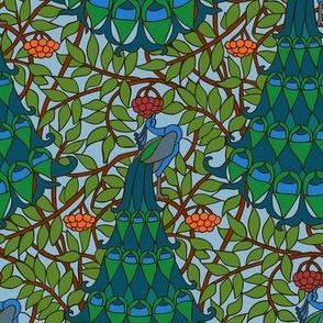 Art Nouveau Peacock  -  Vivid