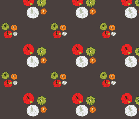 colorfulPumpkins2 fabric by colortual on Spoonflower - custom fabric