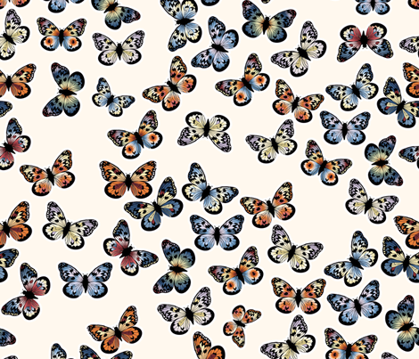 Autumn Tree Nymph Butterfly fabric by mainsail_studio on Spoonflower - custom fabric