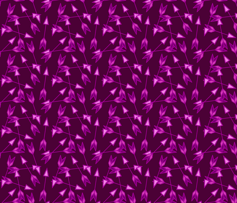 Arrow Scatter in Pink & Purple fabric by thewellingtonboot on Spoonflower - custom fabric