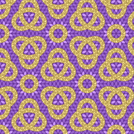 06695102 : corn braid love knot : violet fabric by sef on Spoonflower - custom fabric