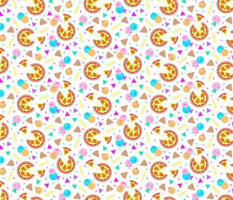 Pizza Party fabric by seesawboomerang on Spoonflower - custom fabric