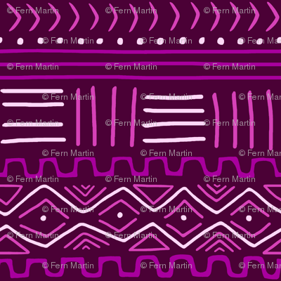 Mudcloth in Purple & Pink