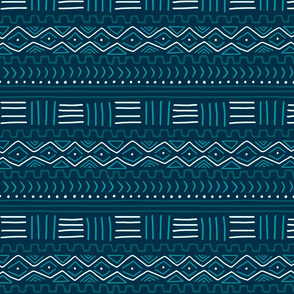 Mudcloth on Teal