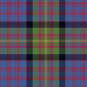"Carnegie tartan, 6"" muted colors"
