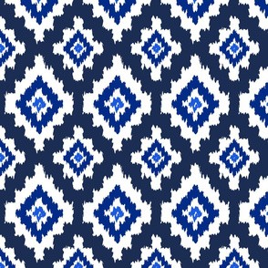Boho Ikat in Navy