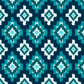 Boho Ikat in Shades of Blue