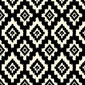 Boho Ikat in Black & Cream