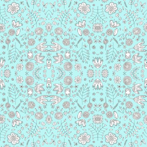 meadowflowers fabric by marigoldpink on Spoonflower - custom fabric