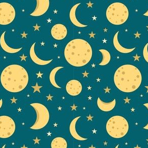 Moon Outer Space Stars