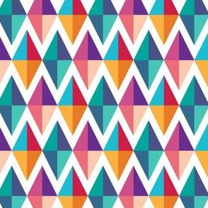 Colorful Modern Geometric Diamond Pattern