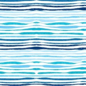 Blue Brushstroke Wave Like Stripes