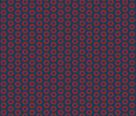 Phish Red Donuts - Small Scale Approx 1 inch Circles fabric by khaus on Spoonflower - custom fabric