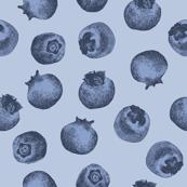 Summer Blueberries Fruit Cute Handdrawn Blue berry Pattern