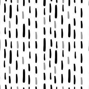 Black Grey and White Dash Vertical Stripes