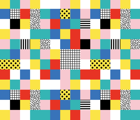 pixel memphis fabric by gisellehuberman on Spoonflower - custom fabric