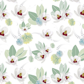 Amelia White Flower Design