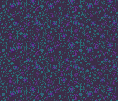 tuttie_fruttie_pink_and_brown_town_purples-01 fabric by handsofthecloth on Spoonflower - custom fabric