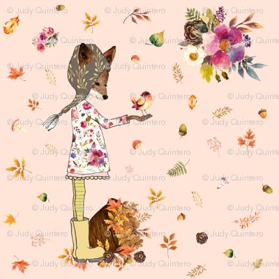 """8"""" Fall Friends - Peach"""
