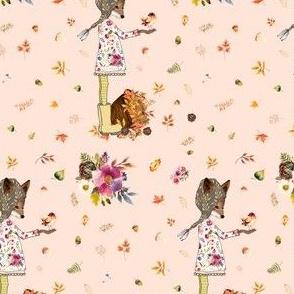 """4"""" Fall Friends - Peach"""