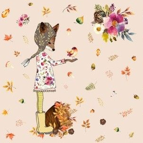 """6"""" Fall Friends - Taupe"""