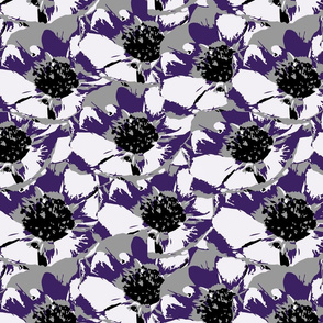 Anemone Multi Purple & Gray