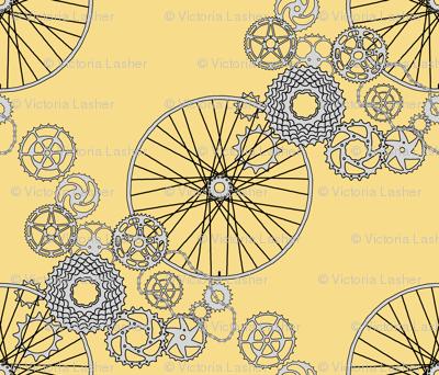 Beautiful bicycle parts - 42 inch yard - pear yellow - F7DD8B
